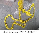 Yellow Chain On The Steel For...
