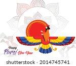 happy parsi new year vector...   Shutterstock .eps vector #2014745741