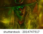 Portrait Of Scary Ugly Witch In ...