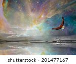 new mexico stars and eagle... | Shutterstock . vector #201477167