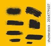 black brushes. paint the... | Shutterstock .eps vector #2014779107