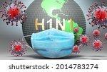 H1n1 And Covid   Earth Globe...