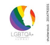 vector lgbtqa logo symbol....   Shutterstock .eps vector #2014792031
