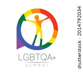 vector lgbtqa logo symbol....   Shutterstock .eps vector #2014792034