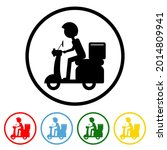 food delivery icon with color...   Shutterstock .eps vector #2014809941