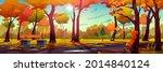 autumn landscape background ... | Shutterstock .eps vector #2014840124