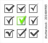 validation icons set of nine