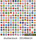 220 flags of the world ... | Shutterstock .eps vector #201486614