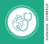 cardiology color button icon.... | Shutterstock .eps vector #2014883114