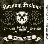 motorcycle grunge burning... | Shutterstock .eps vector #201489251