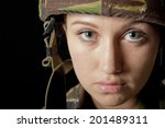 young army girl | Shutterstock . vector #201489311