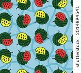 pattern of sweet juicy pieces...   Shutterstock .eps vector #2014894541