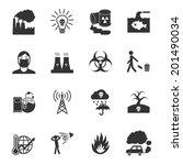 pollution toxic environment... | Shutterstock .eps vector #201490034