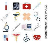 medical emergency first aid... | Shutterstock .eps vector #201490061