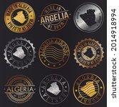 algeria business metal stamps.... | Shutterstock .eps vector #2014918994