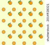 orange fruit seamless design...   Shutterstock .eps vector #2014928321