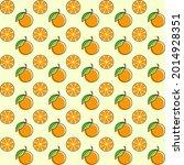 orange fruit seamless design...   Shutterstock .eps vector #2014928351