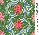 floral exotic tropical seamless ... | Shutterstock .eps vector #2014930007