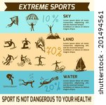 extreme sky land water sports...   Shutterstock .eps vector #201494561