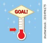 goal thermometer | Shutterstock .eps vector #201496175