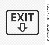 vector illustration of an exit...