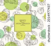 background with garcinia...   Shutterstock .eps vector #2014977437
