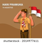 indonesian scouting day aka...   Shutterstock .eps vector #2014977611