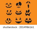 collection of halloween... | Shutterstock .eps vector #2014986161
