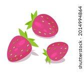 strawberry isolate. vector...   Shutterstock .eps vector #2014994864