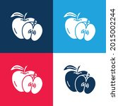 apple blue and red four color...   Shutterstock .eps vector #2015002244