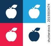 apple blue and red four color...   Shutterstock .eps vector #2015003474
