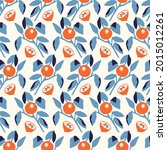 vector orange tree leaf...   Shutterstock .eps vector #2015012261