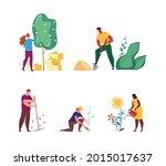 work in the park  garden ...   Shutterstock .eps vector #2015017637