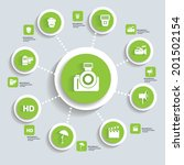 photography concept info... | Shutterstock .eps vector #201502154