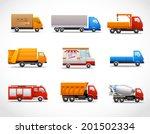 realistic truck lorry transport ... | Shutterstock .eps vector #201502334