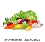 fresh vegetable organic food... | Shutterstock .eps vector #201503531