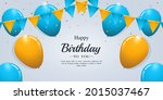 happy birthday card with... | Shutterstock .eps vector #2015037467