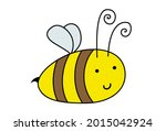 cartoon beautiful smiling drawn ... | Shutterstock .eps vector #2015042924