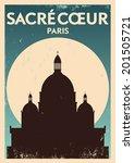 Typographic Paris City Poster...