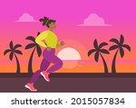 girl or woman in sportswear... | Shutterstock .eps vector #2015057834