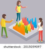 visualize with business... | Shutterstock .eps vector #2015059097