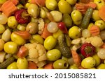 Mixture Of Preserved Olives And ...