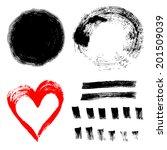 set of ink paint frames | Shutterstock .eps vector #201509039