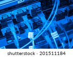 server with fiber optic  cables ... | Shutterstock . vector #201511184