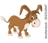 Isolated Donkey Vector...