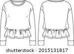 vector fashion sketch... | Shutterstock .eps vector #2015131817