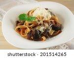 pasta alla norma  sicilian dish ... | Shutterstock . vector #201514265