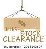 huge stock clearance. vector... | Shutterstock .eps vector #2015143607