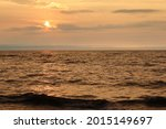 Sunset On The Gulf Of Riga In...