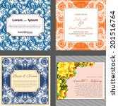 wedding invitation cards with... | Shutterstock . vector #201516764